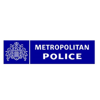 Display met police logo