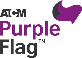 Display atcm purple flag logo